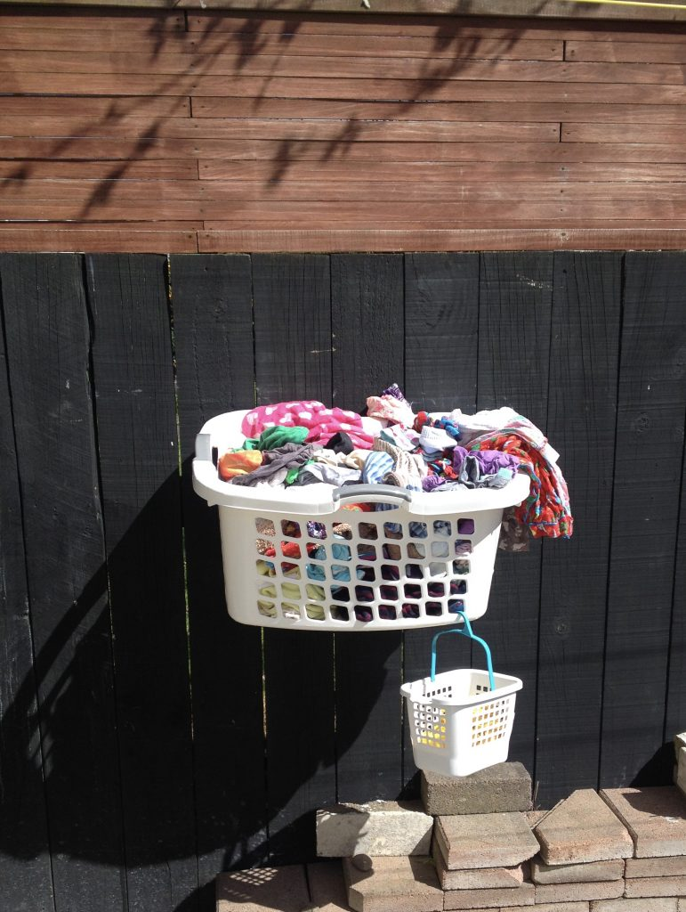 Washing basket DIY